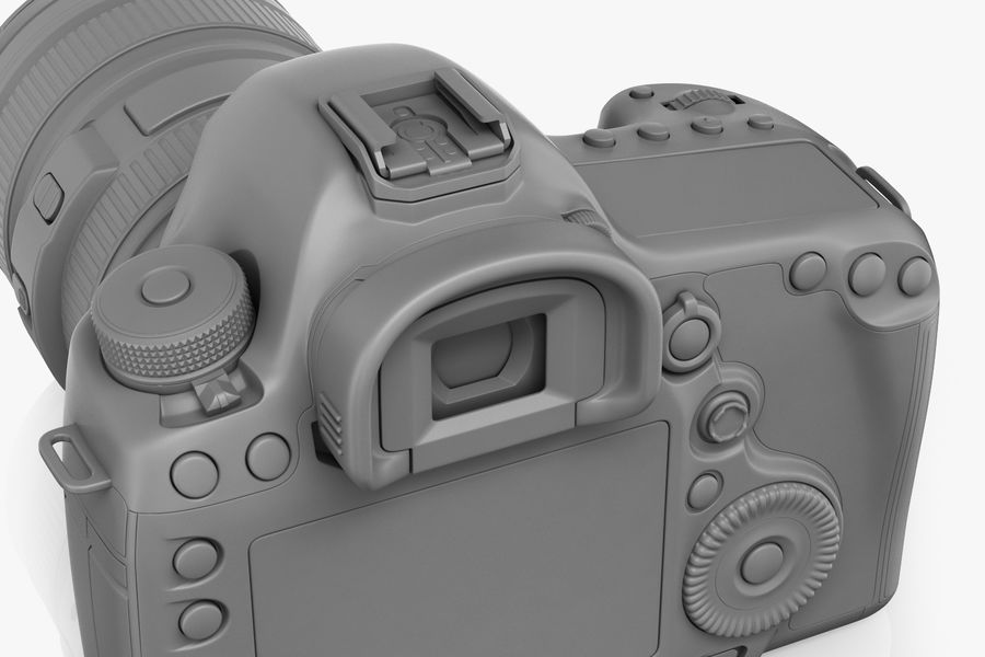 Spiegelreflexkamera Canon EOS 5D Mark III royalty-free 3d model - Preview no. 14