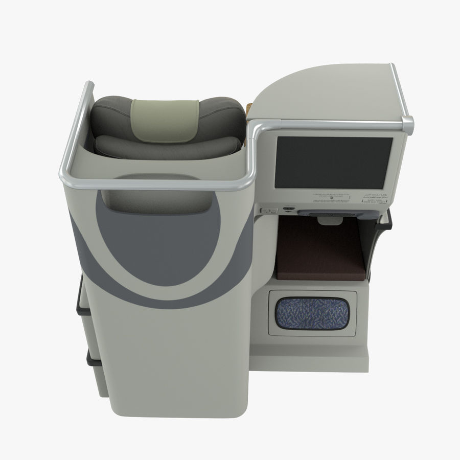A380 Business Seat royalty-free 3d model - Preview no. 16
