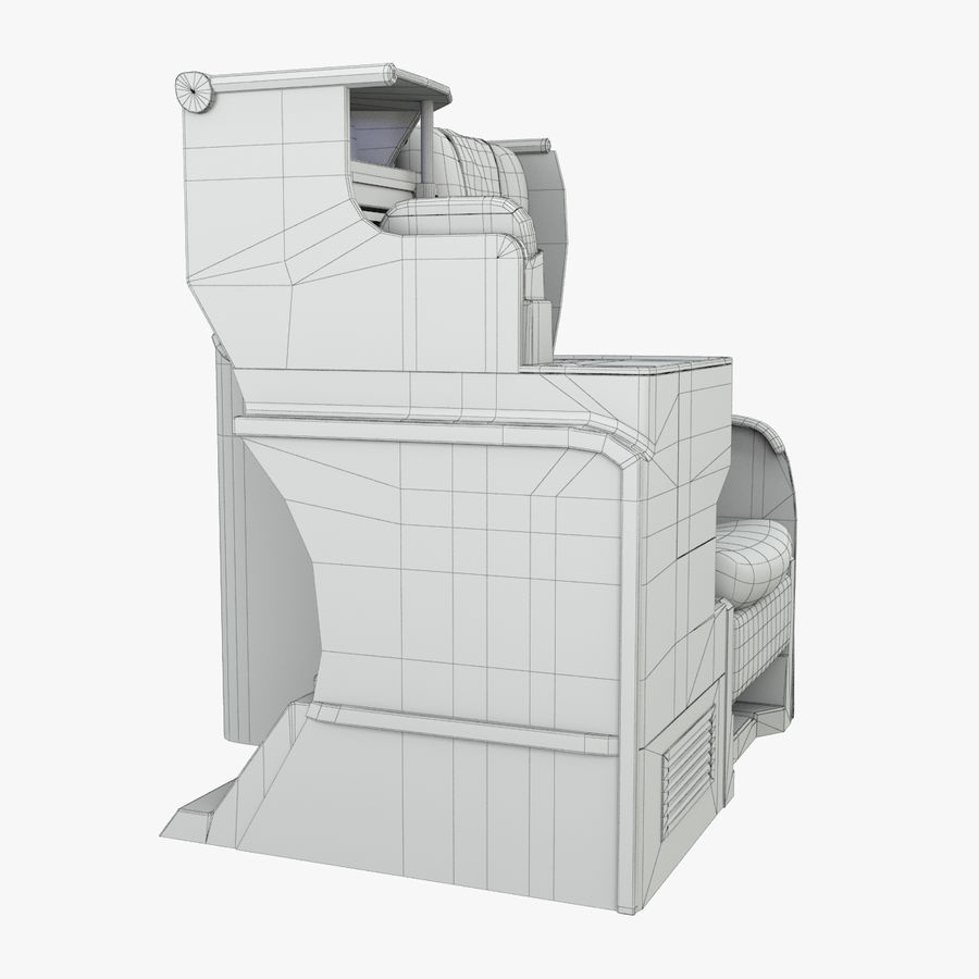 A380 Business Seat royalty-free 3d model - Preview no. 11