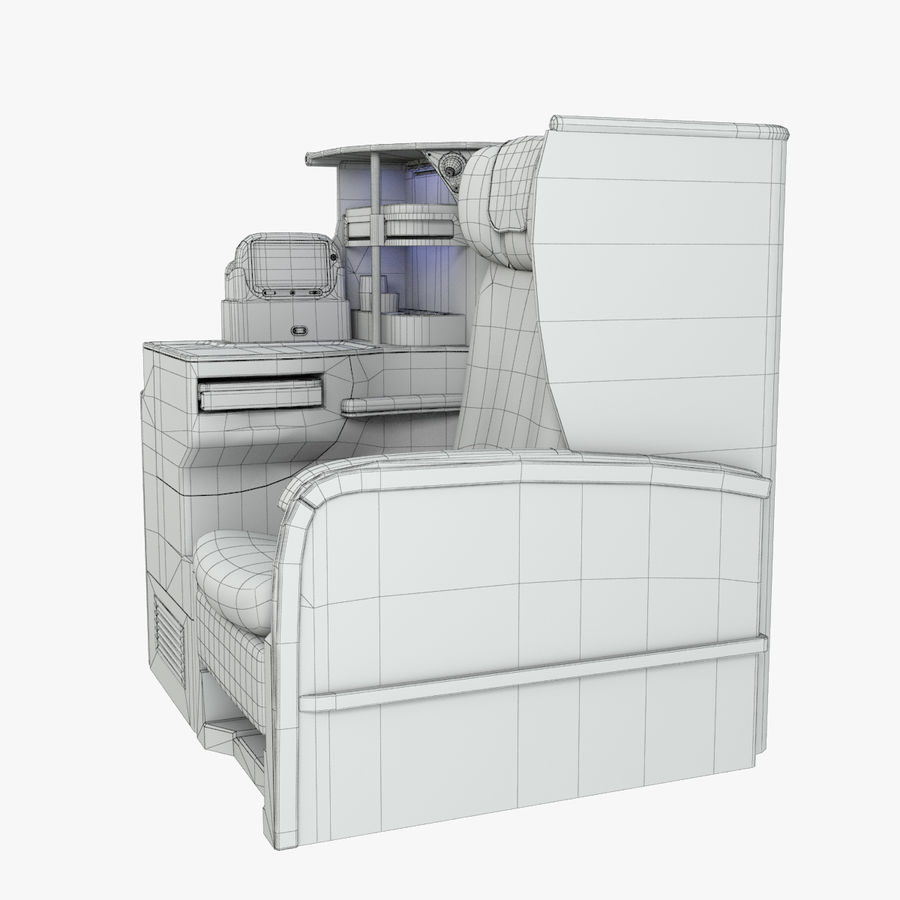 A380 Business Seat royalty-free 3d model - Preview no. 8