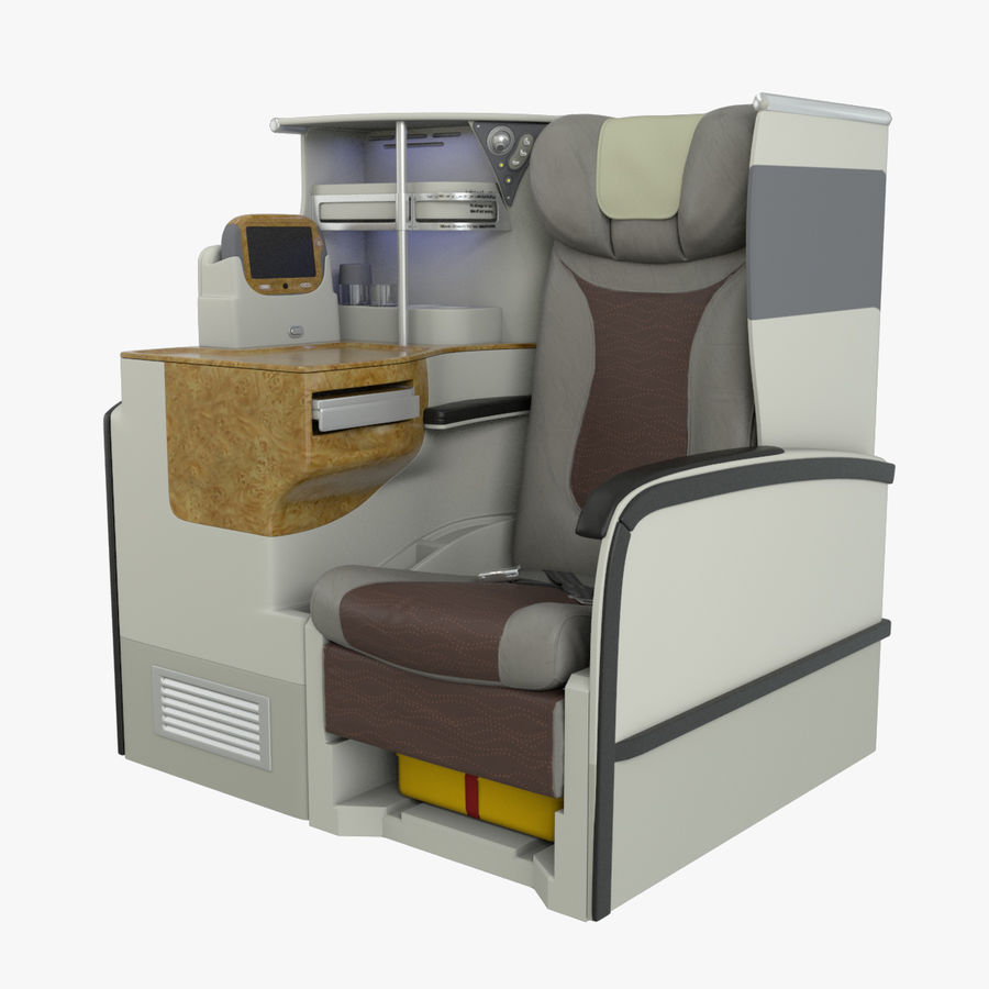 A380 Business Seat royalty-free 3d model - Preview no. 1