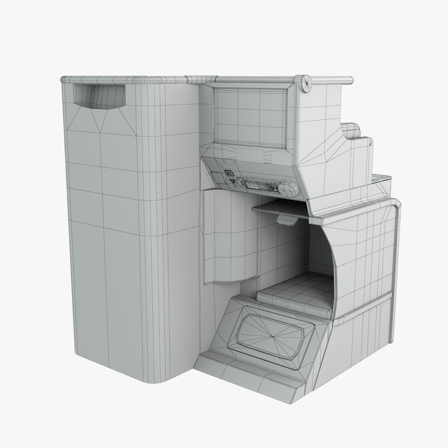 A380 Business Seat royalty-free 3d model - Preview no. 5
