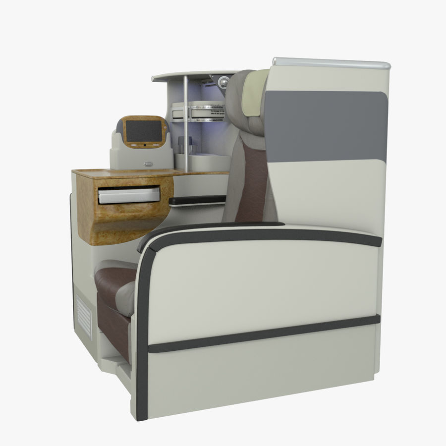 A380 Business Seat royalty-free 3d model - Preview no. 7