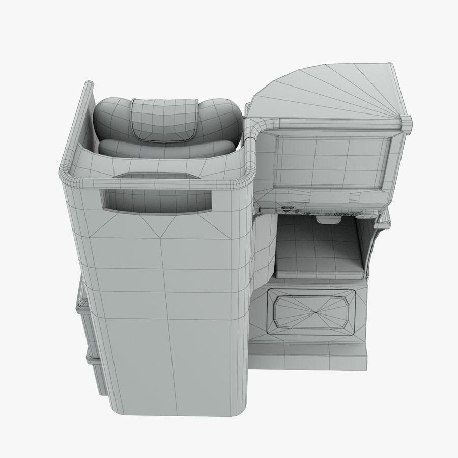 A380 Business Seat royalty-free 3d model - Preview no. 17