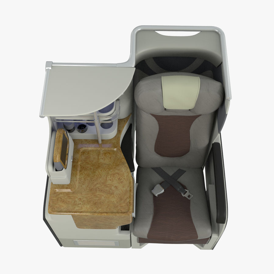 A380 Business Seat royalty-free 3d model - Preview no. 13