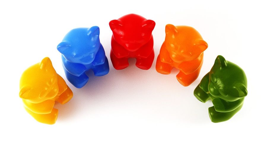 Gummy Bears royalty-free 3d model - Preview no. 20