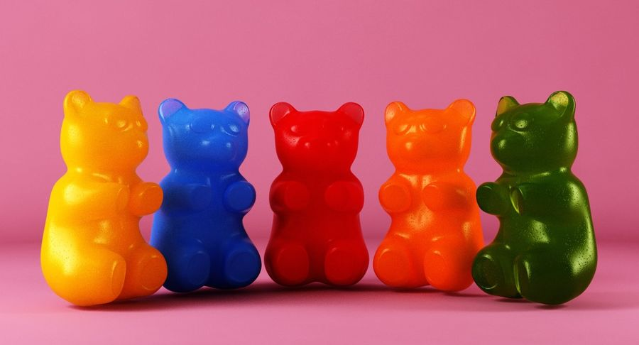 Gummy Bears royalty-free 3d model - Preview no. 3
