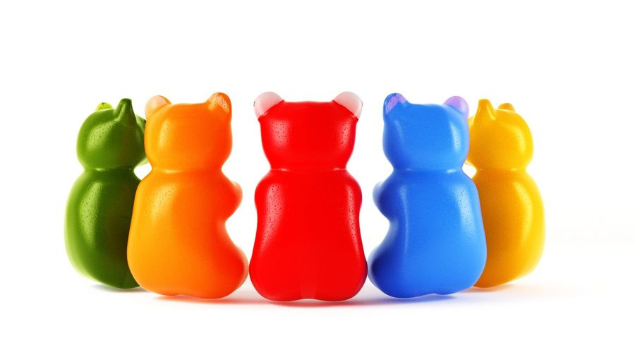 Gummy Bears royalty-free 3d model - Preview no. 18
