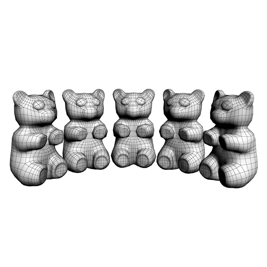 Gummy Bears royalty-free 3d model - Preview no. 17
