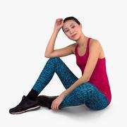 Fit Woman Sitting 3d model