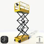 가위 리프트 리깅 로우 폴리 3d model