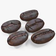 Roasted Coffee Bean 3d model