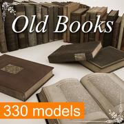 Collezione di libri antichi 330 Mega 3d model