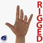 Man Hands 2 Rigged för Cinema 4D 3d model