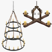 Candle Chandeliers Collection 3d model