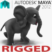 Mayaに接続されている漫画象 3d model