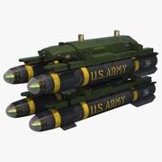 AGM-114ヘルファイアミサイル 3d model