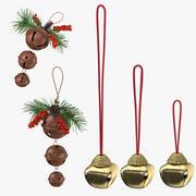 Coleção de sinos de Natal 3d model