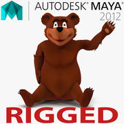 玛雅3D模型的卡通熊索具 3d model