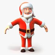 Cartoon Crazy Santa 3d model
