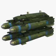 AGM-114 Hellfire-raket 3d model