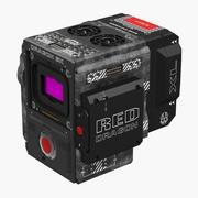 Cámara de película profesional Red Weapon Dragon 6k Body modelo 3d
