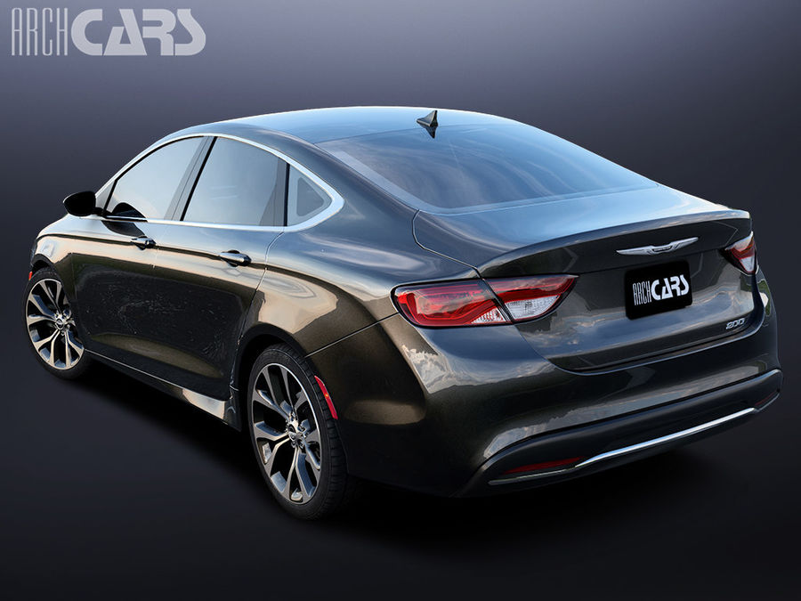 Chrysler 200 royalty-free 3d model - Preview no. 2