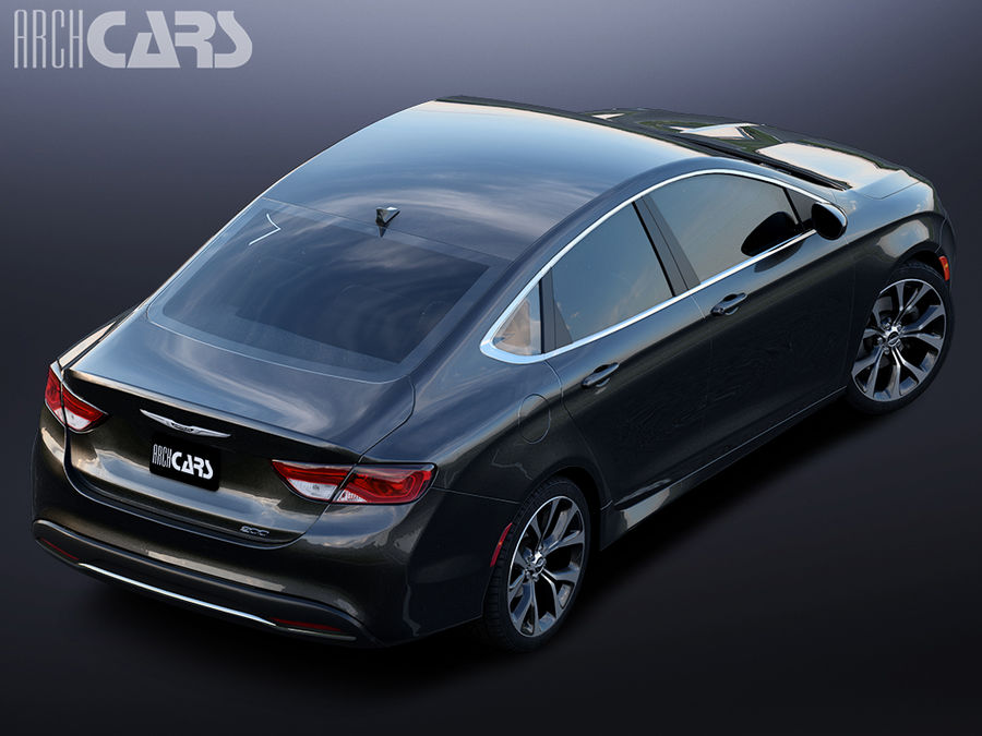 Chrysler 200 royalty-free 3d model - Preview no. 5
