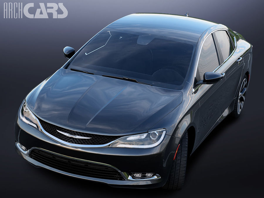 Chrysler 200 royalty-free 3d model - Preview no. 3
