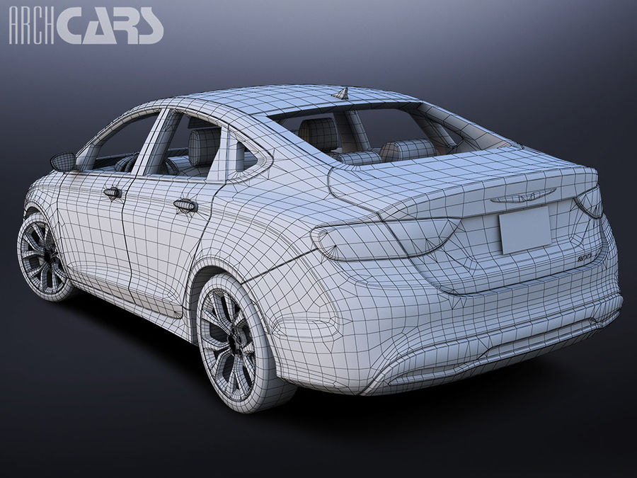 Chrysler 200 royalty-free 3d model - Preview no. 7