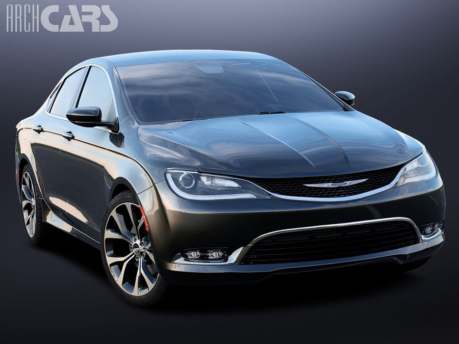 Chrysler 200 royalty-free 3d model - Preview no. 1