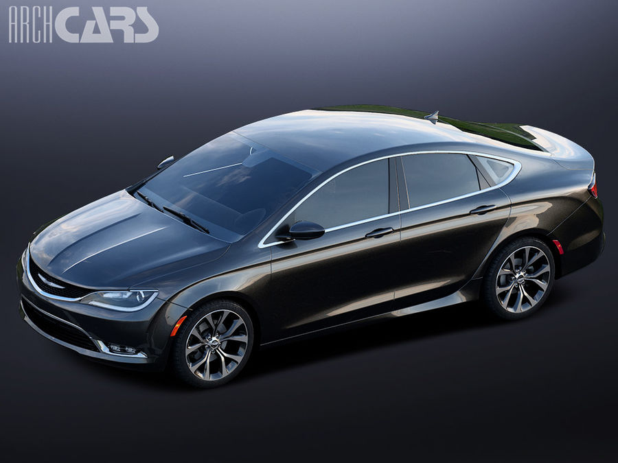 Chrysler 200 royalty-free 3d model - Preview no. 4
