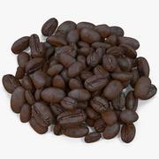 Жареный кофе в зернах 8 3d model
