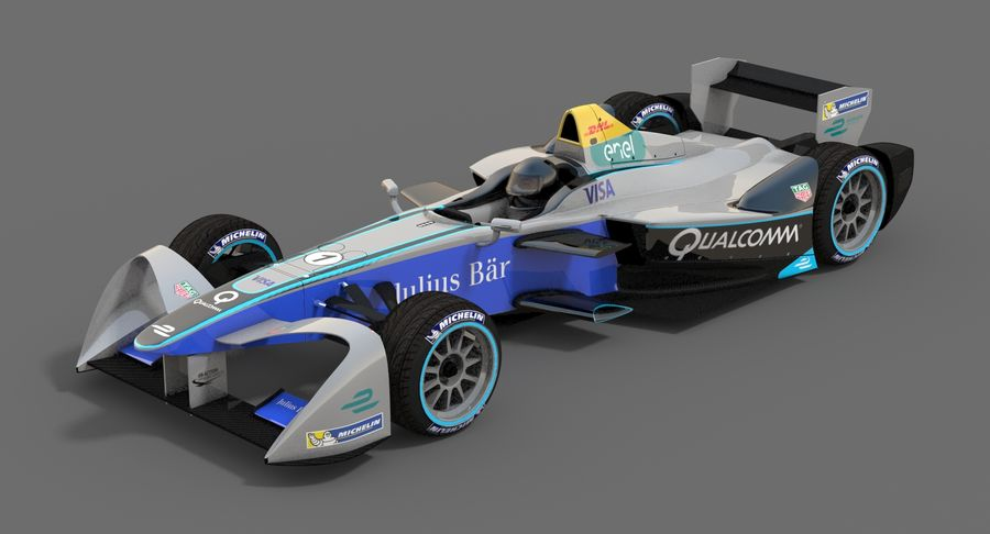 Formula E SRT-01E Season 2016-17 royalty-free 3d model - Preview no. 3