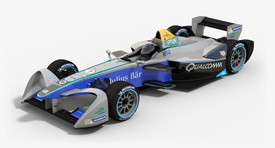 Formula E SRT-01E Season 2016-17 royalty-free 3d model - Preview no. 2