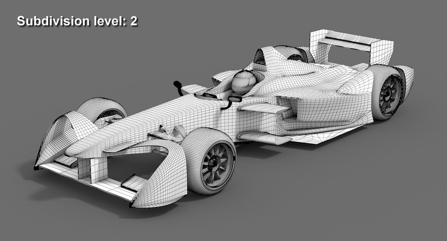Formula E SRT-01E Season 2016-17 royalty-free 3d model - Preview no. 11