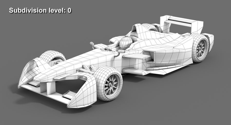Formula E SRT-01E Season 2016-17 royalty-free 3d model - Preview no. 10