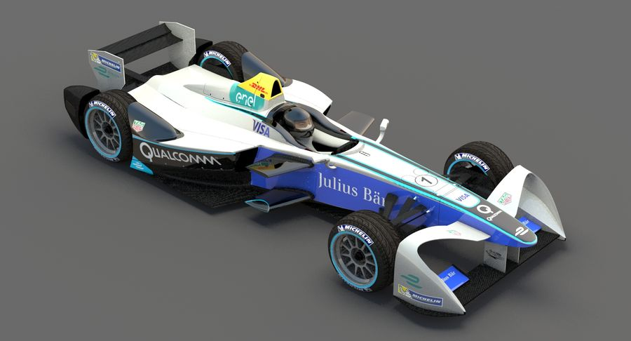 Formula E SRT-01E Season 2016-17 royalty-free 3d model - Preview no. 5