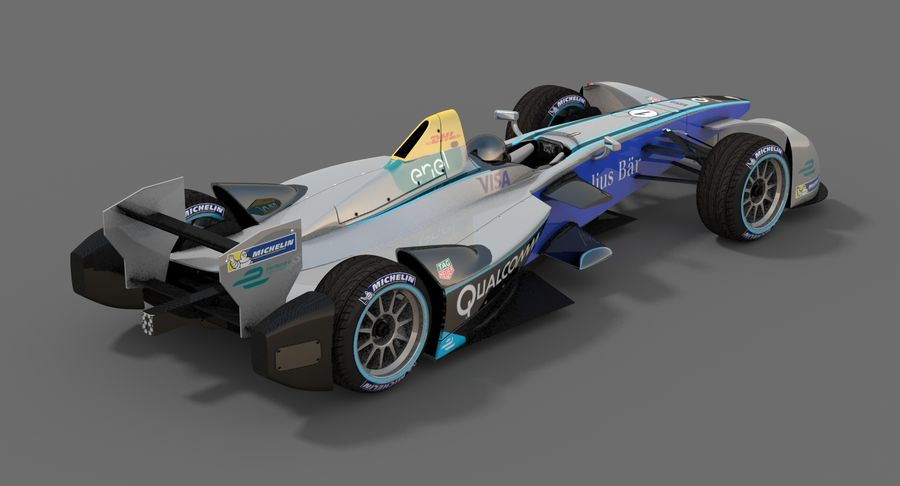 Formula E SRT-01E Season 2016-17 royalty-free 3d model - Preview no. 4