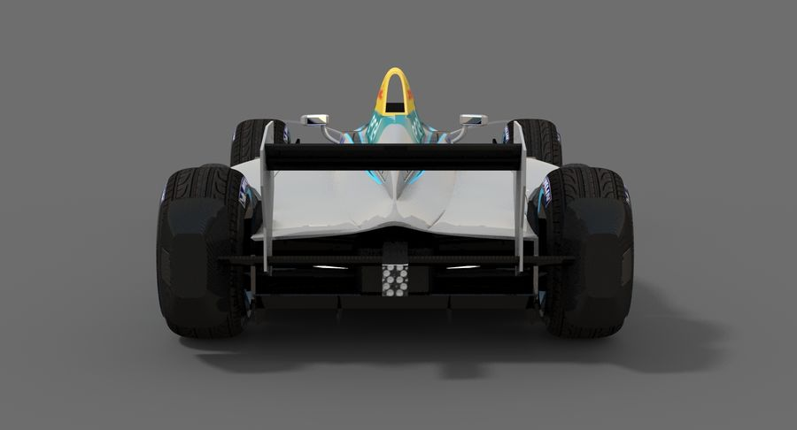 Formula E SRT-01E Season 2016-17 royalty-free 3d model - Preview no. 9