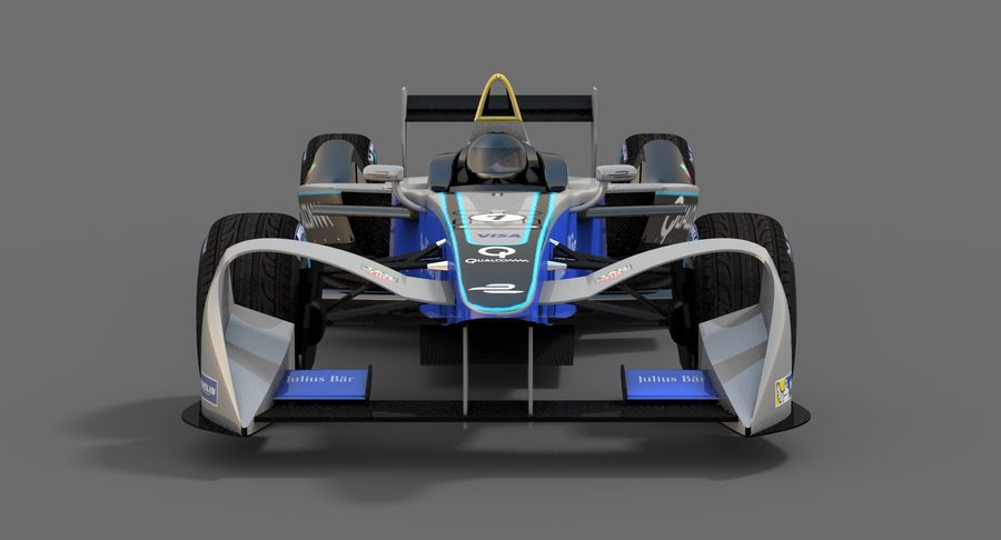 Formula E SRT-01E Season 2016-17 royalty-free 3d model - Preview no. 8