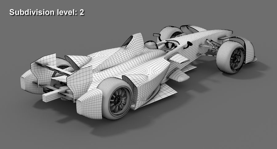 Formula E SRT-01E Season 2016-17 royalty-free 3d model - Preview no. 13