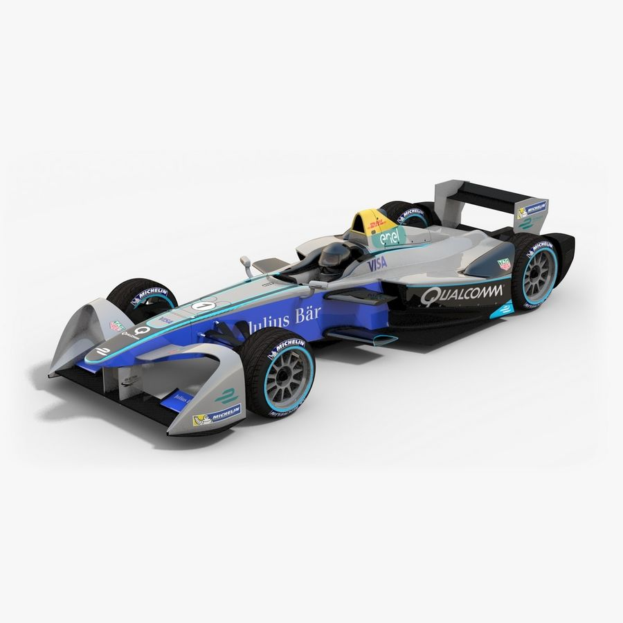 Formula E SRT-01E Season 2016-17 royalty-free 3d model - Preview no. 1