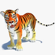 Cartoon Tiger (riggad) 3d model