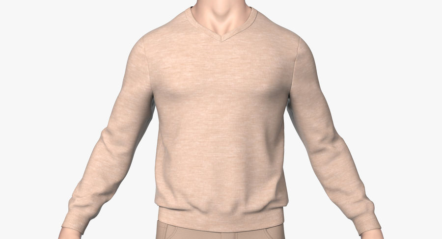 스웨터와 바지 001 royalty-free 3d model - Preview no. 5