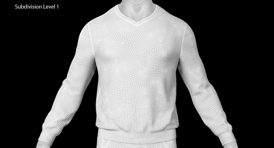 스웨터와 바지 001 royalty-free 3d model - Preview no. 17