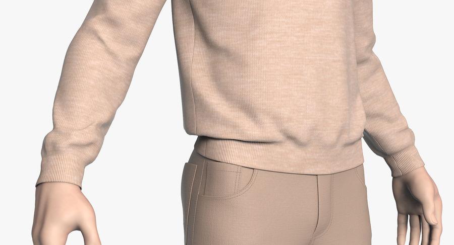 스웨터와 바지 001 royalty-free 3d model - Preview no. 8