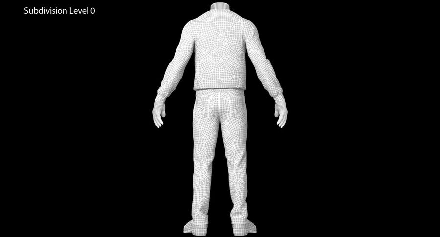 스웨터와 바지 001 royalty-free 3d model - Preview no. 20