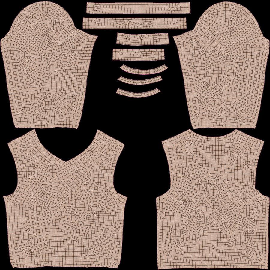 스웨터와 바지 001 royalty-free 3d model - Preview no. 12
