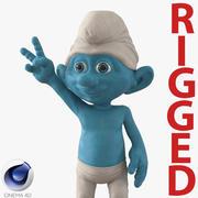 Smurf Rigged dla modelu Cinema 4D 3D 3d model